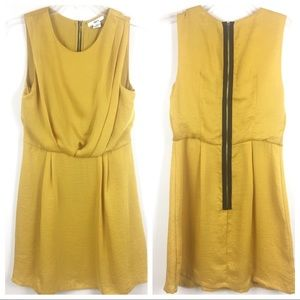 Bar III | Ochre Sleeveless Full Skirt Mini Dress